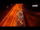 Рыцари дорог на рассвете проехали по Крымскому мосту