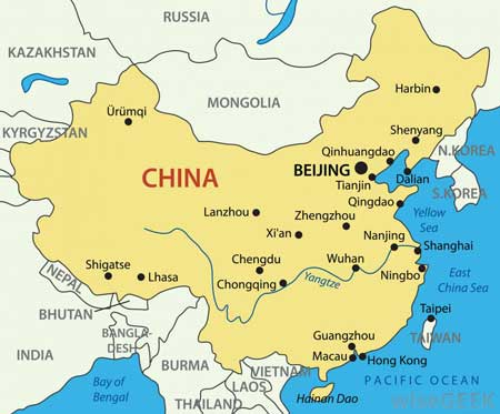 Карта Китая.