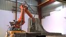 Робот KUKA делает АРТ-объект из бетона / Robots shape Monument Park in Melbourne, Australia