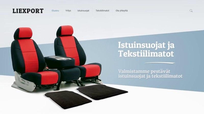 Создание сайтов в Финляндии для продажы чехлов и ковриков.