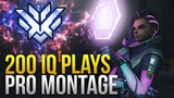 When Pros Make 200 IQ Plays Montage - Overwatch Montage