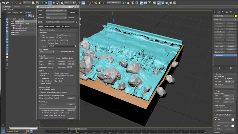 How to render meshes with Arnold by using RFConnect in 3dsmax