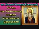 О том, как Умножаются, а также Утрачиваются Дары Божии - Прп. Макарий Великий (Египетский)