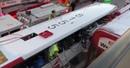 В Оттаве двухэтажный автобус протаранил остановку