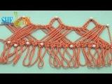 Вяжем обвязку ленты Урок 30 Вязание на вилке крючком
