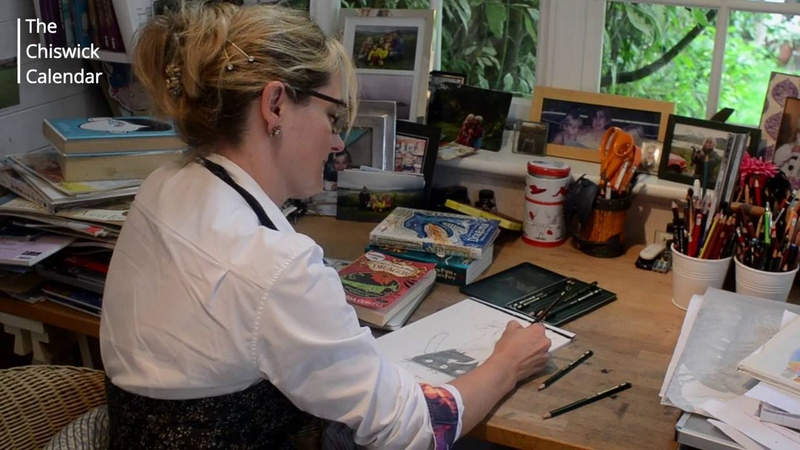 Cressida Cowell draws Hiccup and Toothless