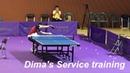[Fancam] 옵차로프(Ovtcharov) 3가지 서비스 연습_Dima's Service training video (2018 Korea open)
