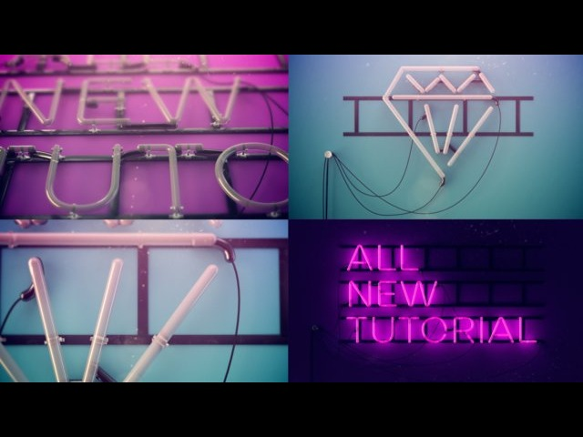 Neon Sign -- Cinema 4D Breakdown / Tutorial