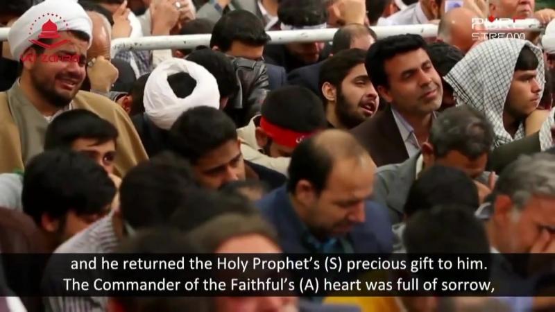 Аятолла Сейид Али Хаменеи на шахадате госпожи Фатимы (а)