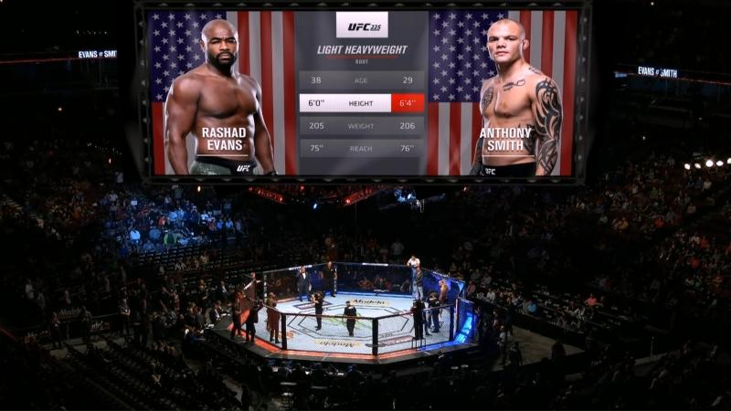 UFC 225 Rashad Evans VS Anthony Smith