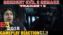 NEW GAMEPLAY TRAILER 2 (4k) REACTION/ANALYSIS : RE2 RESIDENT EVIL 2 REMAKE