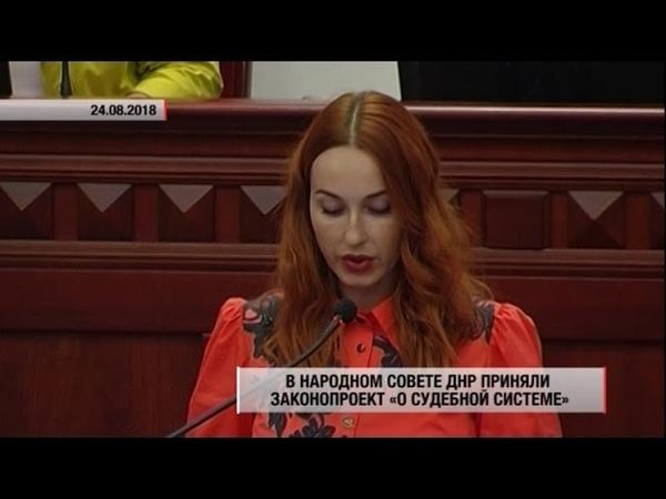 В Народном Совете ДНР приняли законопроект 'О судебной системе'. Актуально. 24.08.18