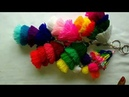 How to make woolen tassel bag charm very easily Decorate bags with colorful charms in English
