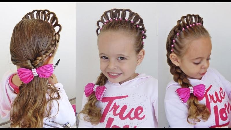 Penteado Infantil Princesa com Coroa de Cabelo