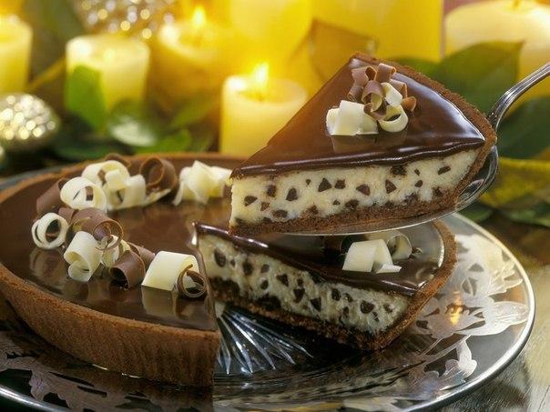 «Сливочно-шоколадный торт-чизкейк»