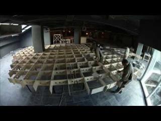 Создание макета Петровская Акватория. 1 серия. Ремонт в выставочном помещении. ТРК Адмирал. Таймлапс