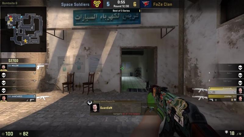 GuardiaN triple kill on the offense (Mirage)