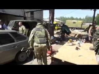Луганск  Батальон «Айдар» собирается в бой  Июнь 2014