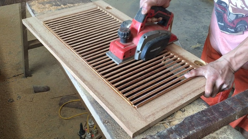 Amazing Woodworking Technical Extremely High How To Make A Shutter Door For Storage Cabinets