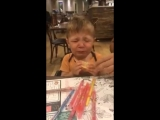 Little lads reaction to tasting a slice of lemon for the first time