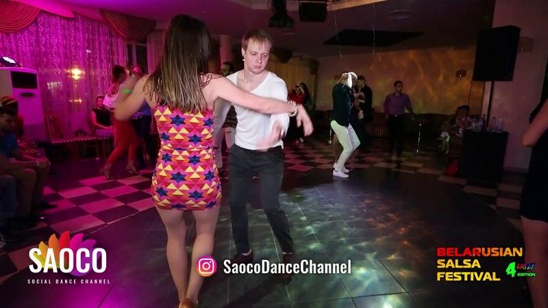 Alexandr Blitkin and Zoya Kokosh Salsa Dancing at Belarusian Salsa Festival 2018, Friday 28.09.2018