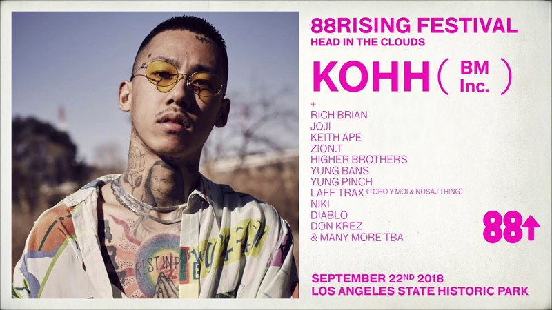 KOHH USA DEBUT at HEAD 💭IN 💭THE 💭CLOUDS FESTIVAL 9 22 18