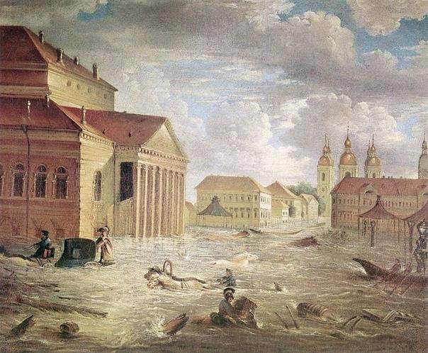 Петербургское наводнение (1824) Петербургское наводнение 1824 года — самое значительное и разрушительное наводнение за всю историю Санкт-Петербурга. Произошло 7 (19) ноября 1824 года. Вода в
