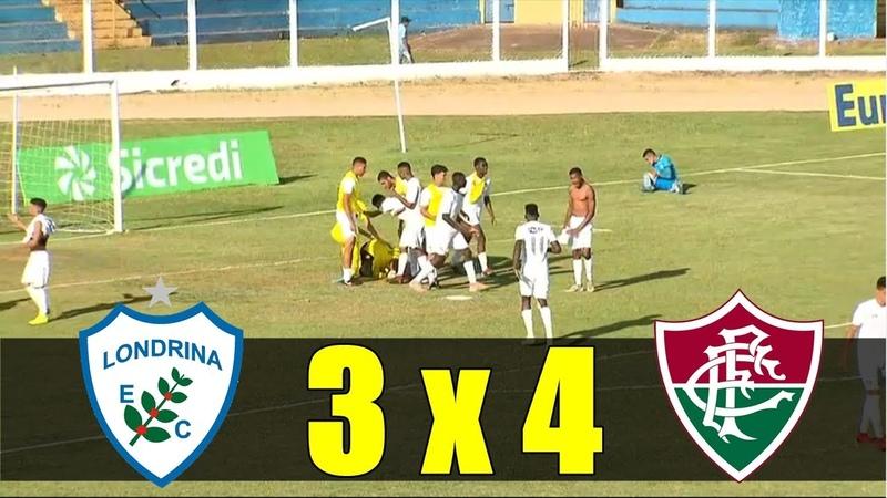 Londrina 3 x 4 Fluminense DISPUTA DE PÊNALTIS Copinha 2019