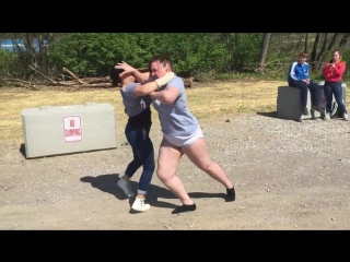 Two girls fight over fake marijuana
