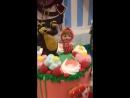 Детский двухъярусный торт