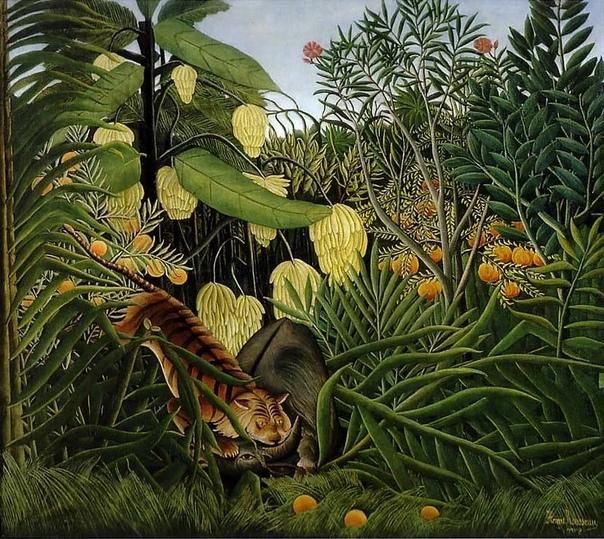 Анри Руссо (1844-1910 - французский художник, один из основоположников примитивизма и наива. Он родился в бедной семье водопроводчика, после окончания школы работал юристом. Но его всегда тянуло