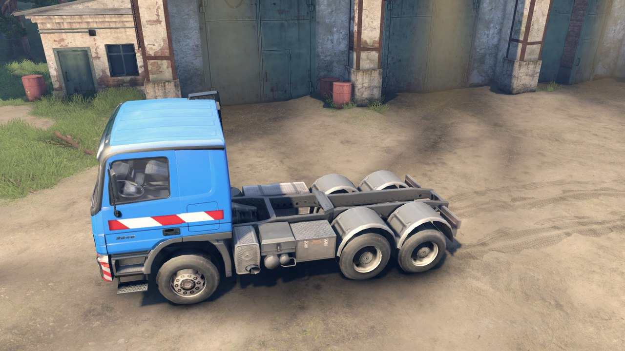 Mercedes Actros + низкорамный трал для Spintires - Скриншот 2