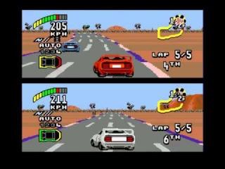 Top Gear 2 (первый пробный Let's Play на двоих игроков по сети эмулятора SEGA)