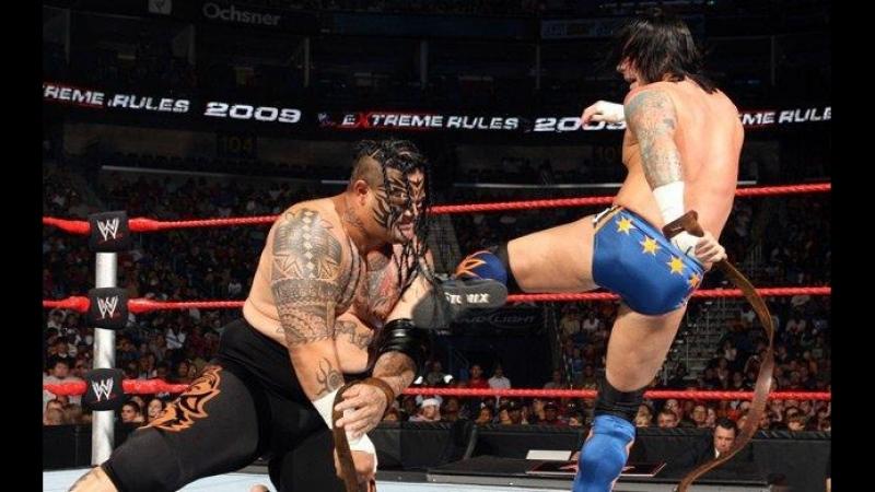 (WWE Mania) WWE Extreme Rules 2009 - Umaga vs CM Punk (Samoan Strap match)