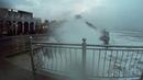 Сильнейший шторм на Балтийском море Зеленоградск