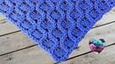 Châle couronnes crochet facile / Crowns shawl crochet english subtitles