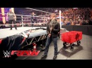 Dean Ambrose interrupts Brock Lesnar Paul Heyman to pick some 'Mania essentials: Raw, Mar 28, 2016
