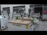 Double heads Riyadh cnc router, Saudi Arabia double heads machine, high precision wood cutting machine with 2 heads