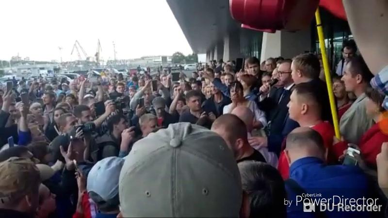 Объявление забастовки Владивосток Приморье Приморский край КПРФ Ищенко Тарасенко Нет ворам Выборы