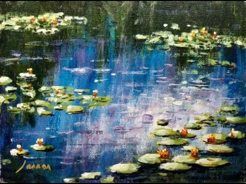 Malen wie die großen Künstler: Monet´s Seerosenteich (Teil 1/2)