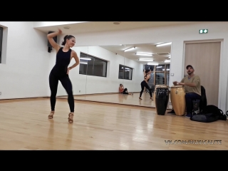 Katerina MIK | Timba lady style to the live music @daily class | France 2018