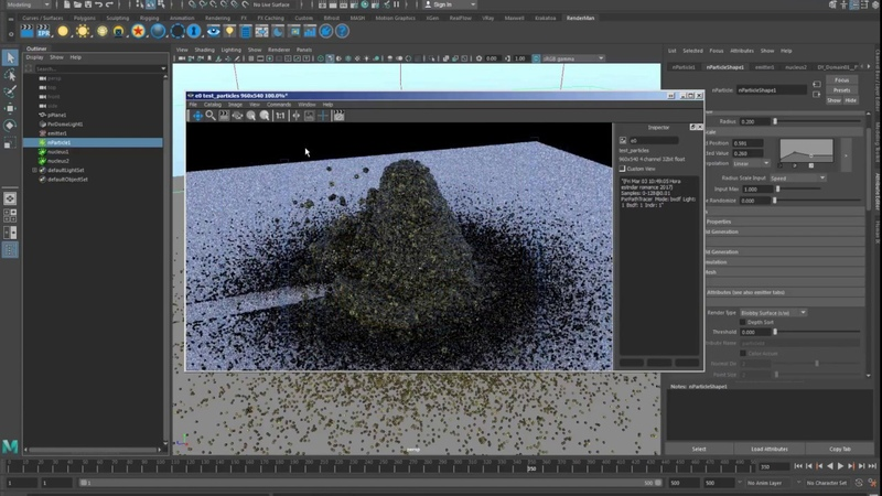 How to render particles in Renderman by using RFConnect in Maya