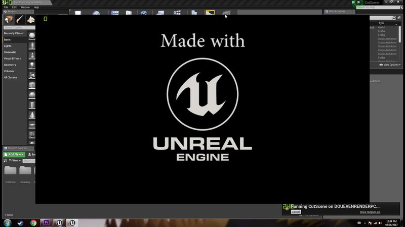 How to display OPENING CREDITS in UNREAL ENGINE 4