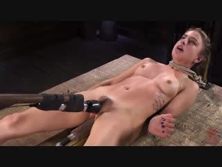 Kristen scott girl next door bound and machine fucked and sybian self-torment, self-piercing, needles, outdoor