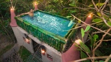 Building Most Beautiful Bamboo Swimming Pool On The Cob Castle Villa