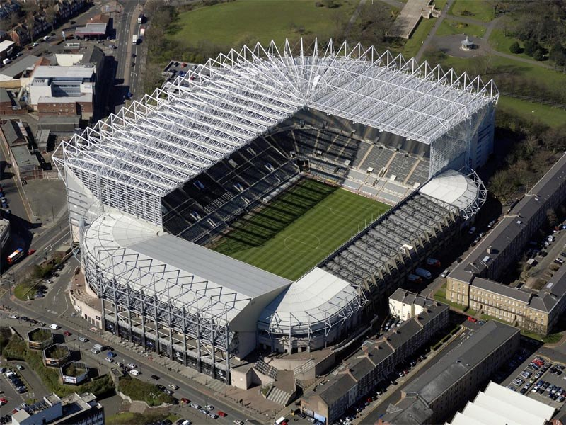 Стадион Сент Джеймс Парк (St. James's Park Stadium). Ньюкасл, Англия.