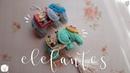 Colgante de elefantes a crochet ENGLISH SUBTITLES