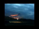 Два ИЛ-76 и 200 пожарных тушат пожар под Медногорском. Видео Орен1