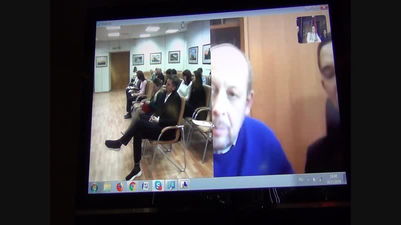 Видеоконференция Москва-Дудинка-Красноярск. Выступление Белова Сергея Игоревича