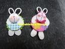 Caritas de conejitos miniatura para decoracion de moños y otras manualidades